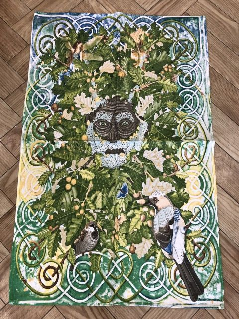 The Green Man Tea Towel